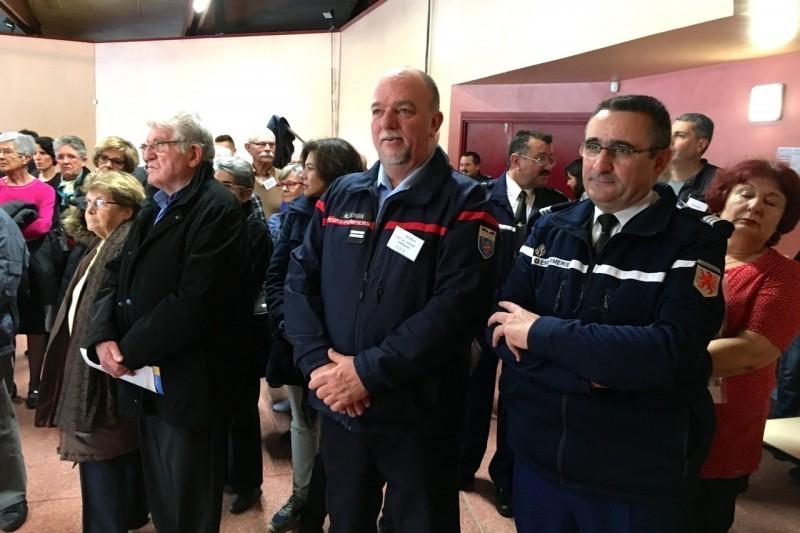 Le capitaine Claude Campourcy, patron des gendarmes du Volvestre et le lieutenant Alain Vergua, patron des pompiers de Carbonne