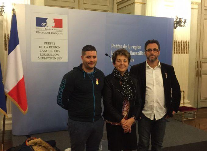 Rieux Volvestre : Raphaël Dromard et Christian Souillé décorés de la médaille de bronze pour acte de courage et de dévouement