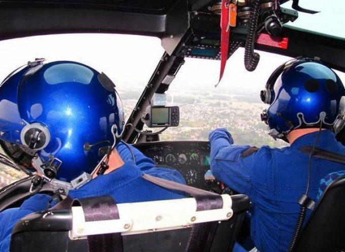 Montesquieu Volvestre : Un hélicoptère de la gendarmerie en recherches au dessus du village (une issue heureuse)