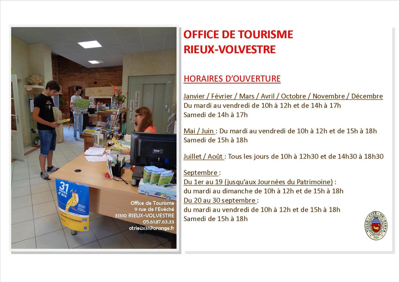 office de tourisme horaires