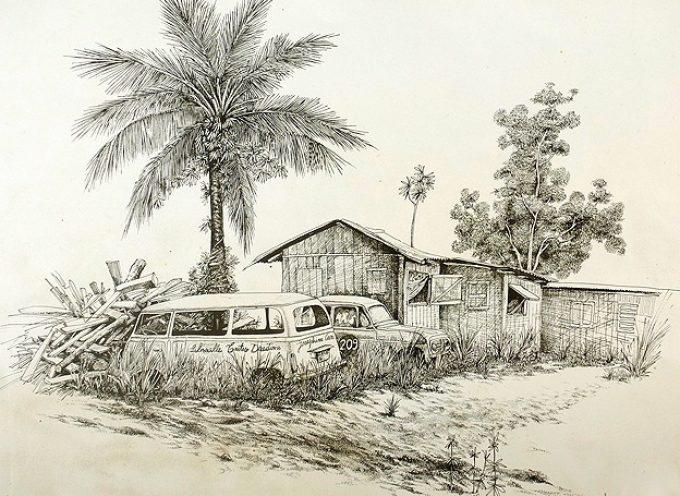 Edoardo di Muro l'africain, expose à Rieux tout l'été.