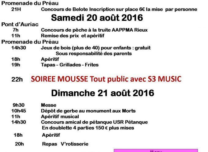 Rieux Volvestre : les fêtes de la Saint Cizi