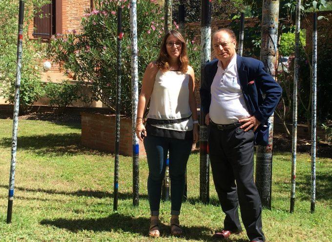 Xavier Louy, délégué général de l'association «des plus beaux détours de France», fait une visite d'inspection à Rieux Volvestre.