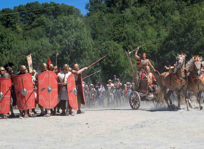 Volvestre : Les romains attaquent le village gaulois.