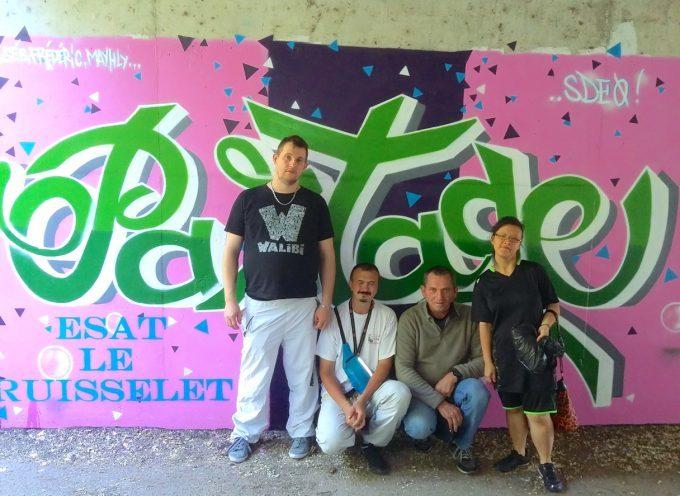 ASSOCIATION PSCHUTT ON PEINT !  Des graffitis pour promouvoir le partage.