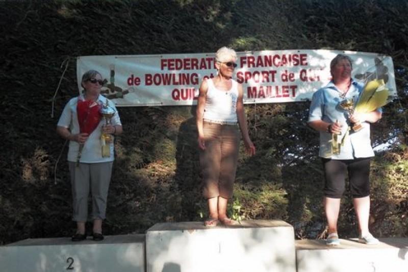 Nicole Championne de France avec Raymonde Vice-championne de France