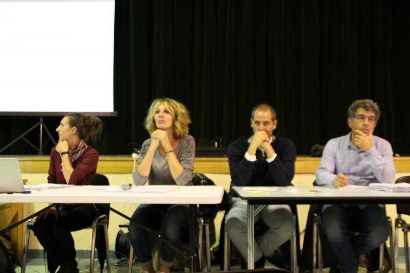 De G. à D., Claire Carbonell, V. Pallarez, P. Castany et Mr Singès