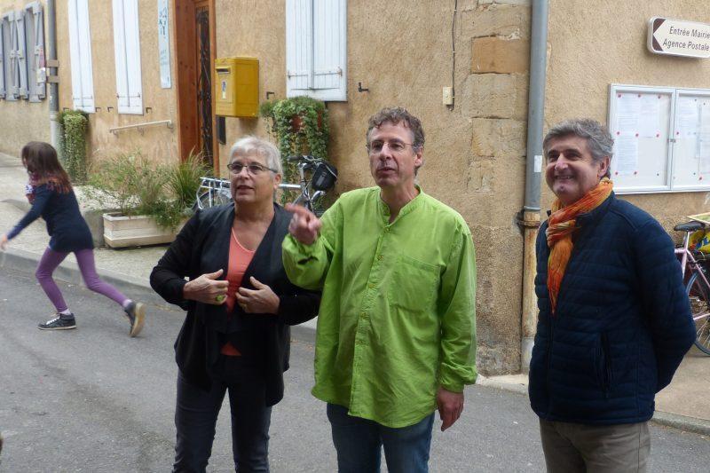 Françoise Dedieu, Jean Luis Halioua et Daniel Grycza, élus du pays sud toulousain.