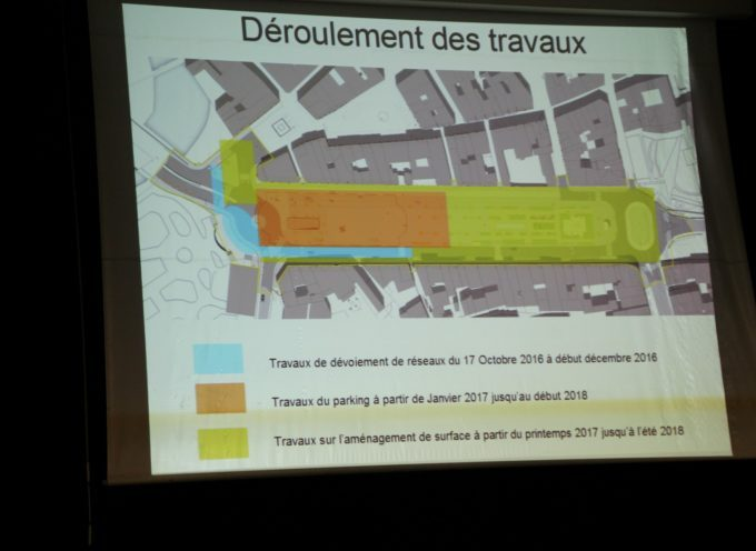Réunion publique sur le chantier du parking des allées Niel
