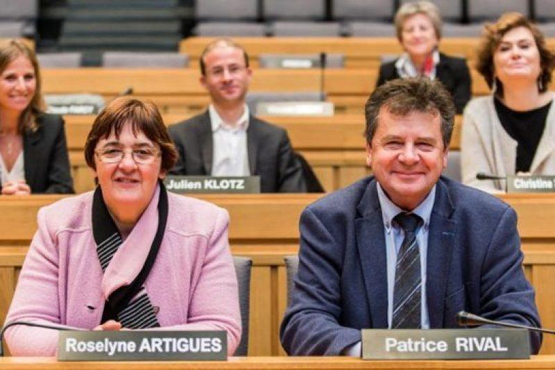 Roselyne Artigues et Patrice Rival, conseillers départementaux du canton de Luchon (Photo CD31)
