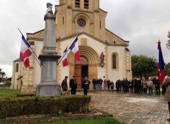 Le 11 Novembre à Villeneuve de Rivière