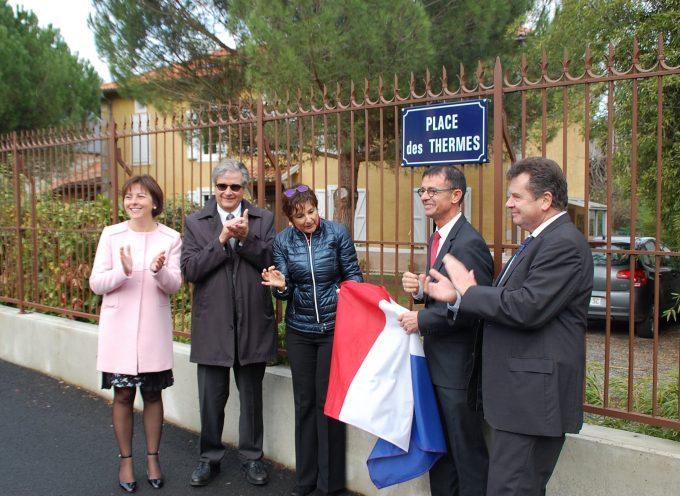Inauguration de la place d'Encausse-les-Thermes
