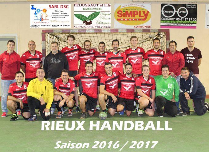 Handball Rieux Volvestre : Une saison qui a bien commencé.