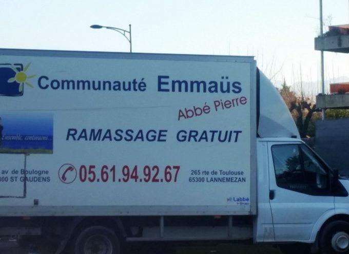Communauté d'Emmaüs : solidarité bienvenue.
