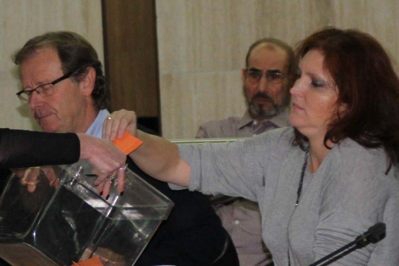 Madame Crédot et Monsieur Gau lors du dernier conseil municipal