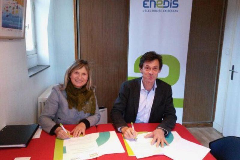 Signature du partenariat entre ENEDIS et le Festival TV de Luchon