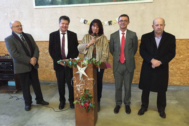 Vœux de Marie Claire Uchan à Saint Bertrand de Comminges.