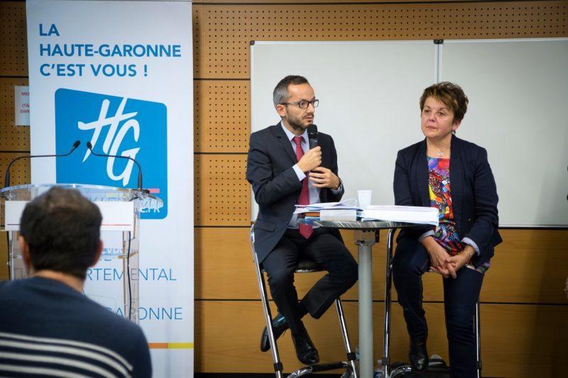 Maryse Vézat-Baronia et Sébastien Vincini conseillers départementaux du canton d'Auterive