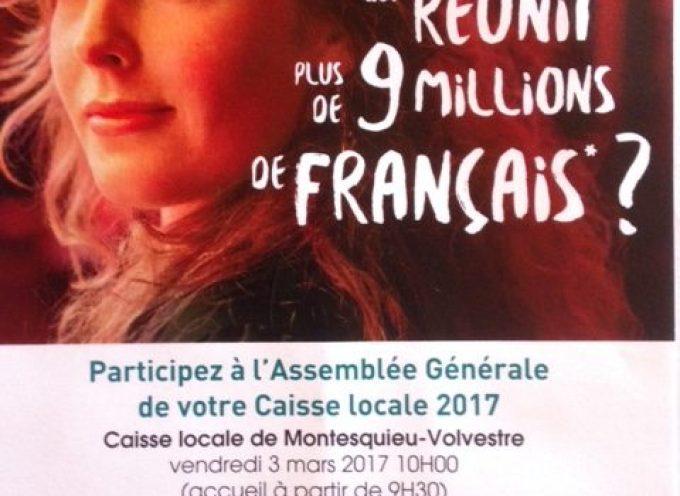 Assemblée générale de la caisse locale du crédit agricole de Montesquieu Volvestre.
