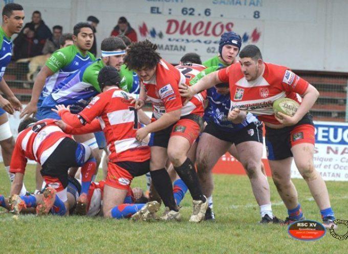 Rugby XV : les bélascains du RSC XV contre FCTT Stade toulousain.