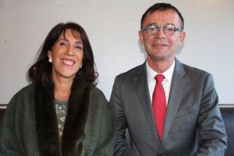 Marie Claire Uchan et Joël Aviragnet (photo DDM)
