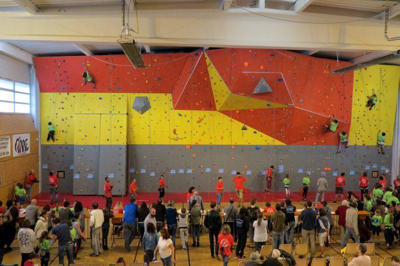 Le mur du gymnase Abbal