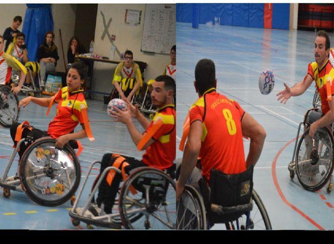 Saint-Gaudens : du rugby à XIII en fauteuil.