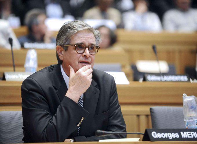 Georges Méric félicite Patrick Lefebvre pour son élection à la présidence de l'association des maires ruraux de la Haute-Garonne