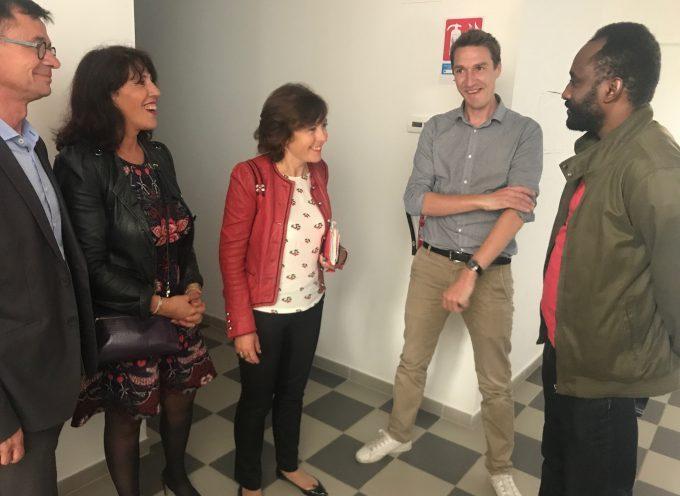 Carole Delga en visite au centre d'accueil de demandeurs d'asile (CADA) de Saint Gaudens