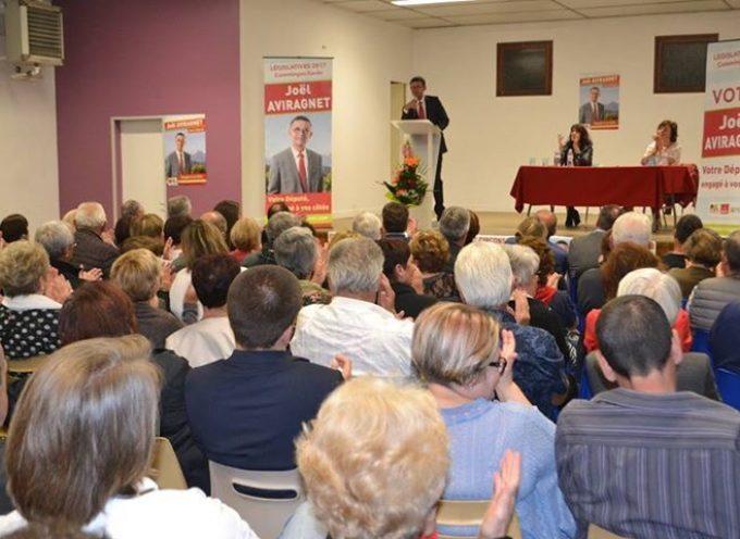 Comminges : Premier meeting du candidat Joël Aviragnet