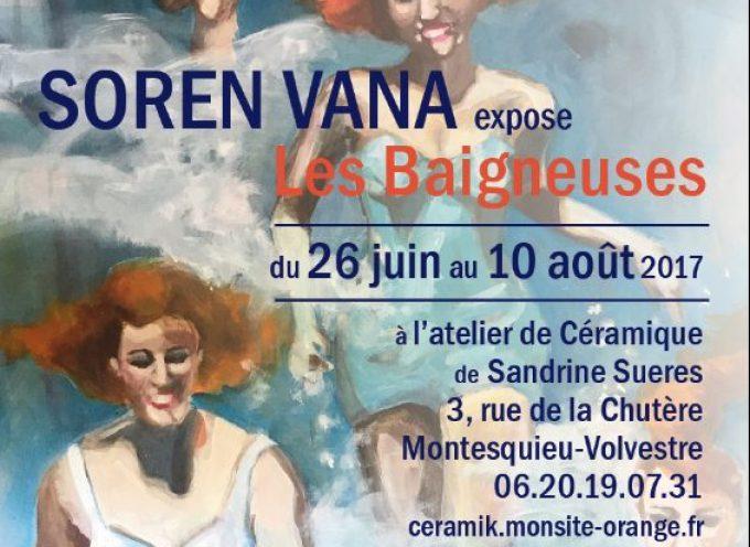 L'atelier céramique à Montesquieu-Volvestre invite l'artiste peintre toulousaine SOREN VANA.