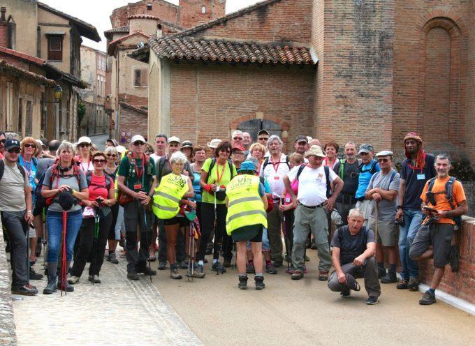 Les randonneurs de Via Garona font étape à Rieux Volvestre