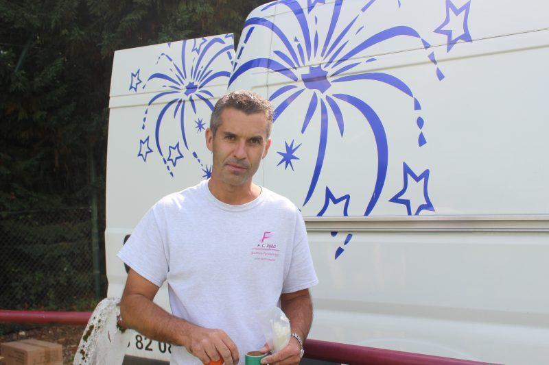 Fabrice Cadario   en pleine préparation