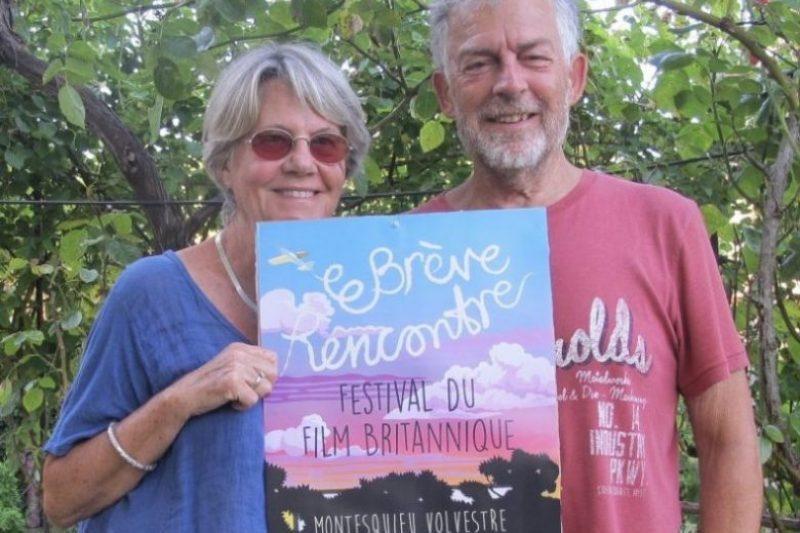 Michèle et Chris Faram, les organisateurs du festival (affiche du festival de 2017)