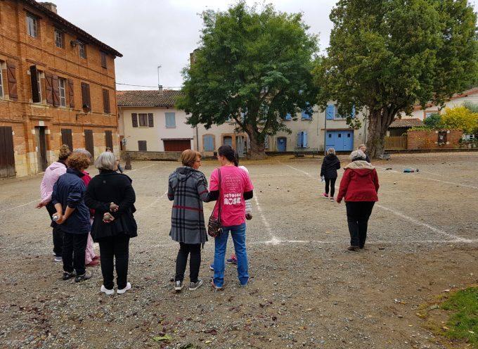 Octobre rose à Rieux Volvestre : Même le cochonnet…