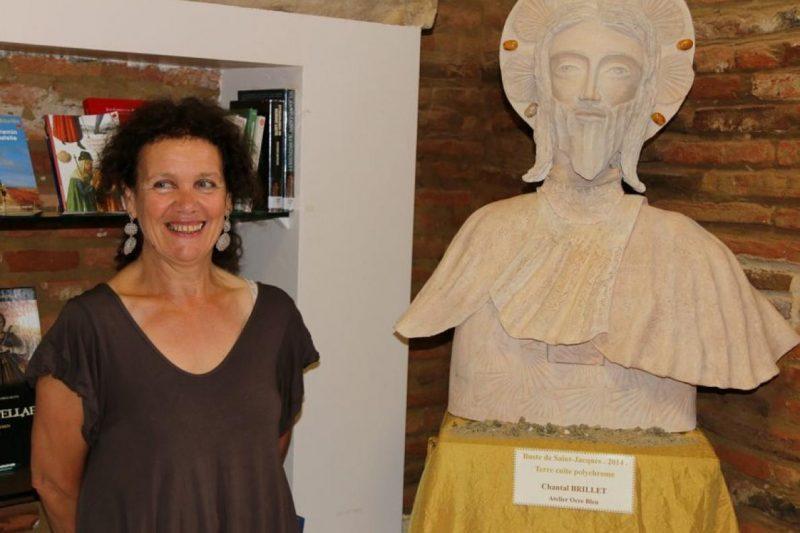 Chantal Brillet lors d'une précédente exposition