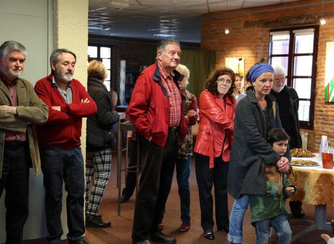 Peintures et dessins à la galerie municipale de Rieux-Volvestre.