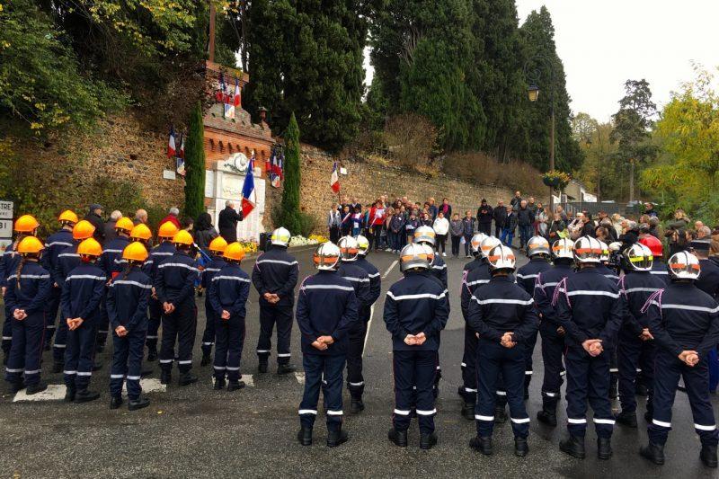 Une forte délégation pompiers sous les ordres du lieutenant Soucasse
