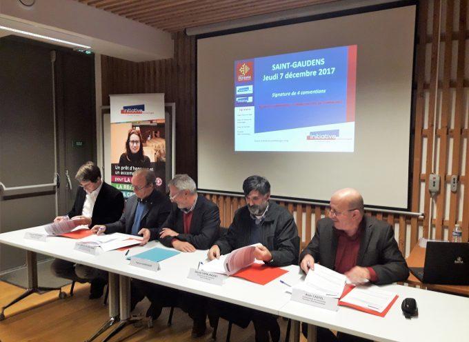 Signature de convention entre Initiatives Comminges et les communautés de Communes.