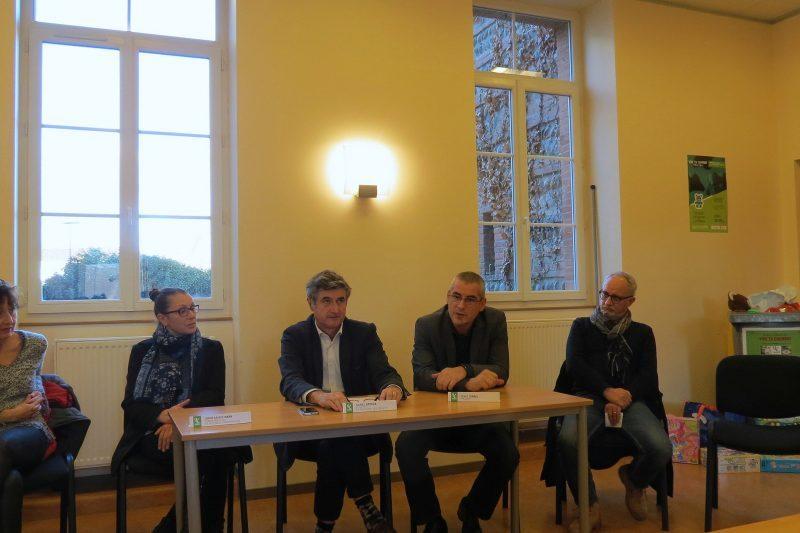 De G à D: A-M Naya, C.Pons, D.Grycza, D.Turrel, M Sanchez.