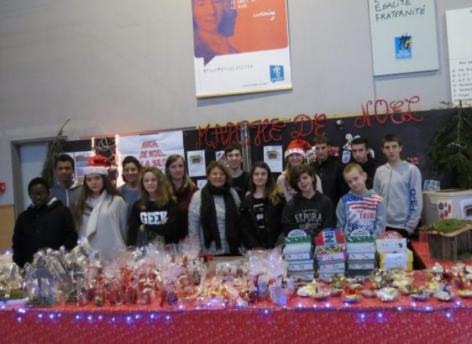 Les élèves de la SEGPA ouvraient leur marché de Noël
