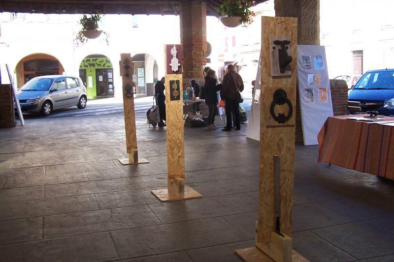 Mini exposition des heurtoirs de Paul Fraysse lors de Zoom sur la ville
