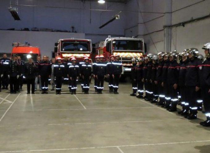 Les pompiers volontaires ont  fêté la Sainte Barbe.