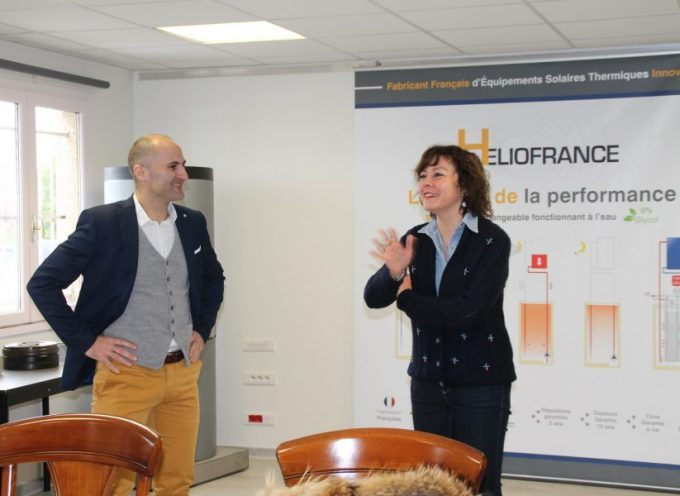 Carole Delga en visite à HelioFrance à Bérat