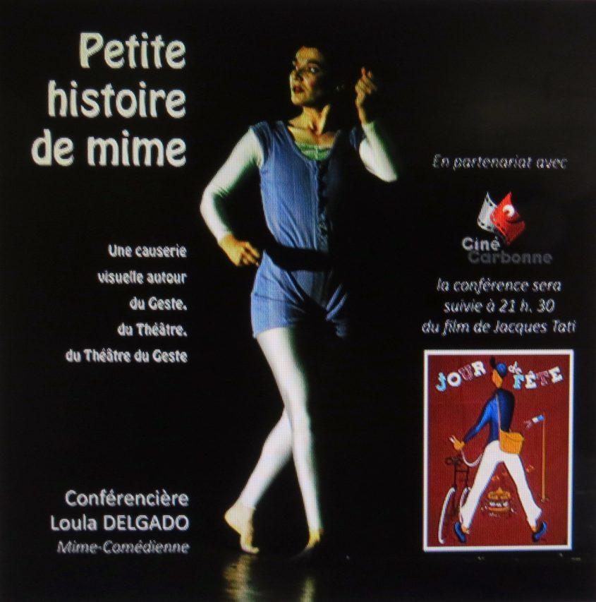 Petite histoire de mime, une causerie visuelle