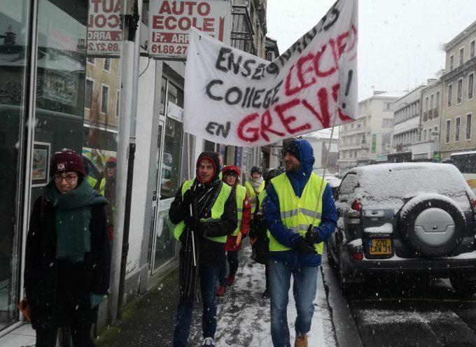 Grève contre la fermeture d'une classe