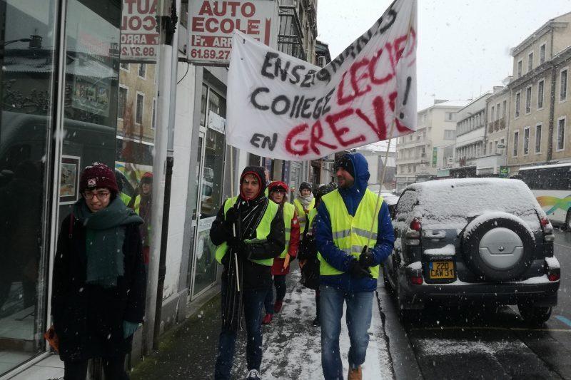 Enseignants en grève