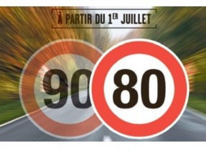 Limitation de vitesse à 80 km/h sur les routes départementales