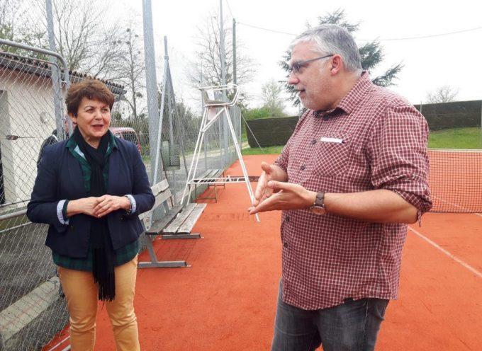 Courts rénovés au club de tennis de Rieux