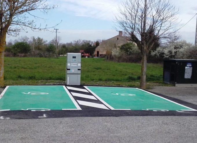 Peyssies a sa borne de recharge pour véhicules électriques